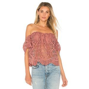 NWT! Lovers + Friends Life's a Beach Lace Top